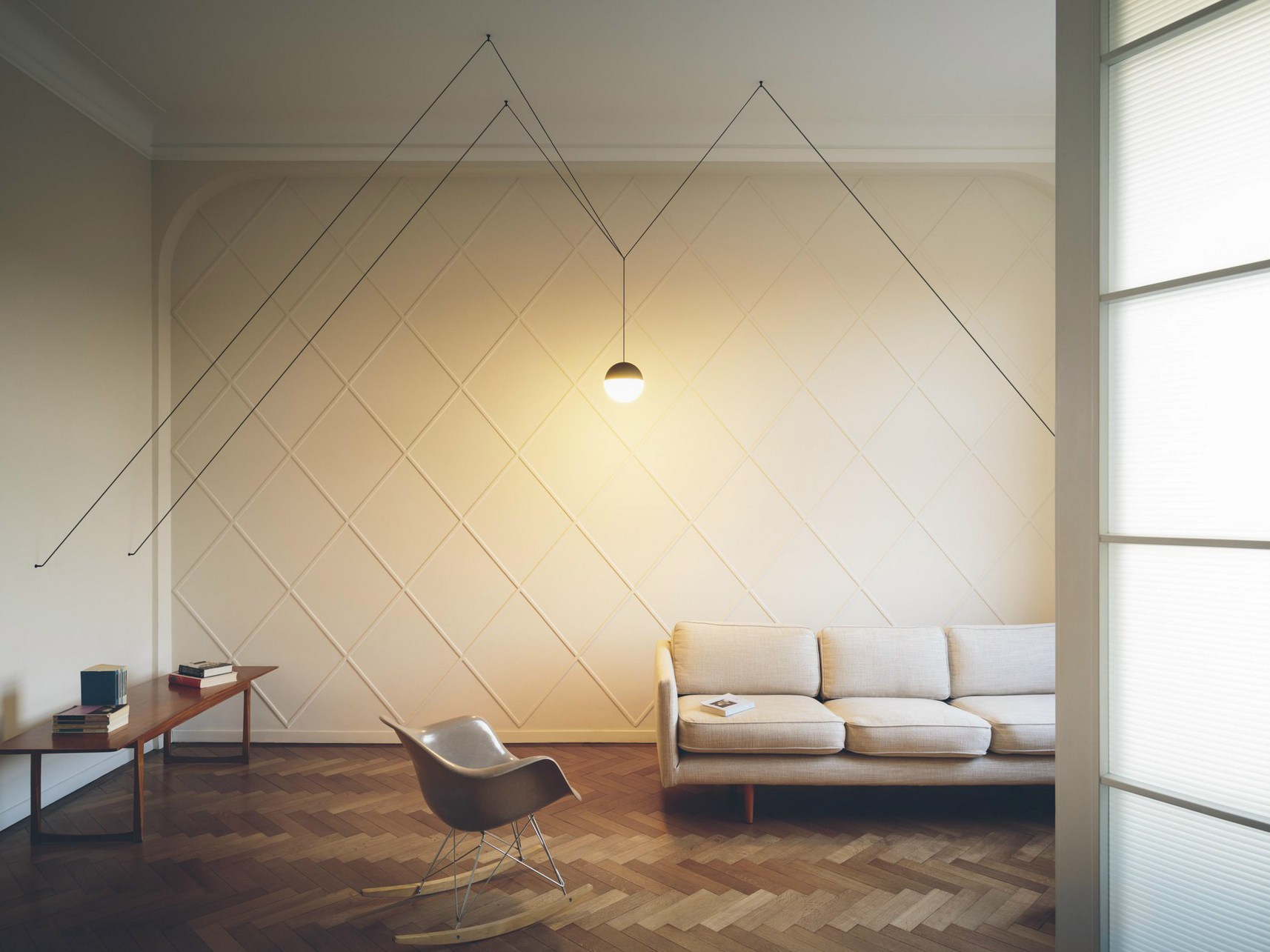 Wire games: minimal pendant lamps