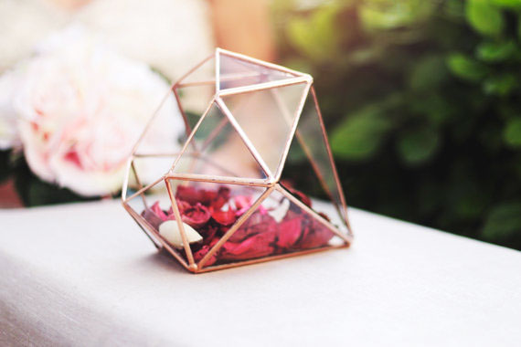 3, 13, vase, geometric, terrarium, orchid, glass, metal, rose, pink, diamond