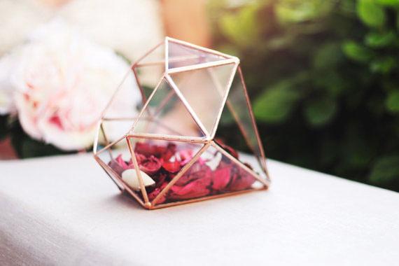 3, 13, vase, geometric, terrarium, orchid, glass, metal, rose, pink, diamond