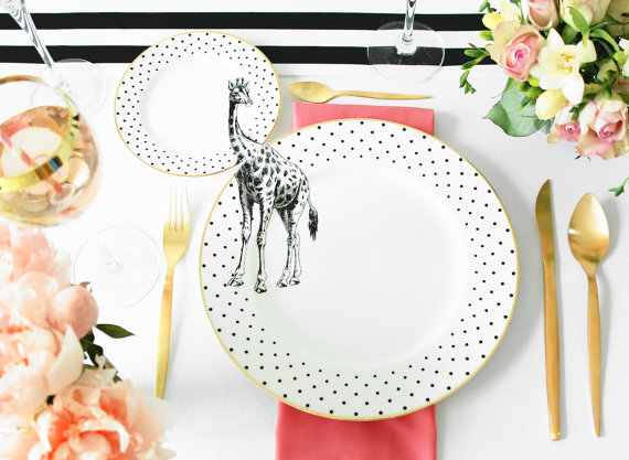 plate-set-animal-wilde-piatti-selvaggio-design-giraffe-giraffa