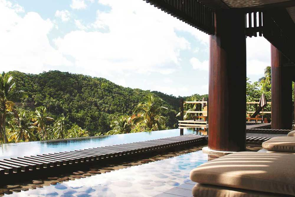 top ten swimming pool by Camilla Bellini in the blog the diary of a designer. boucan hotel in saint lucia