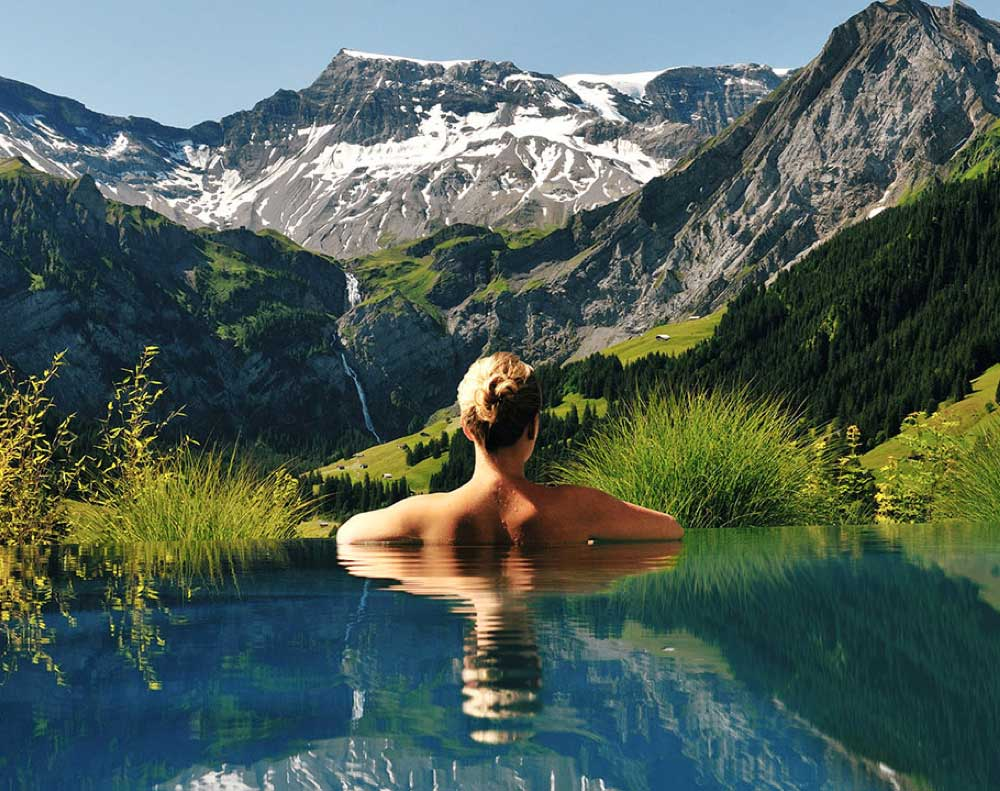 top ten swimming pool by Camilla Bellini in the blog the diary of a designer. cambrian adelboden hotel