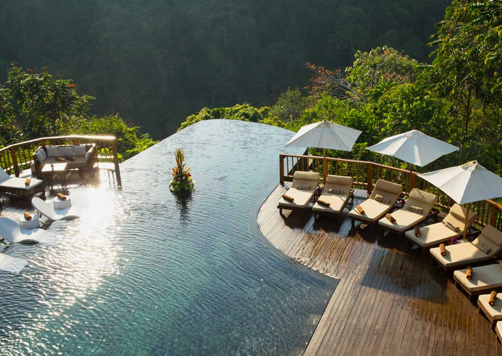 top ten swimming pool by Camilla Bellini in the blog the diary of a designer. hanging gardens bali