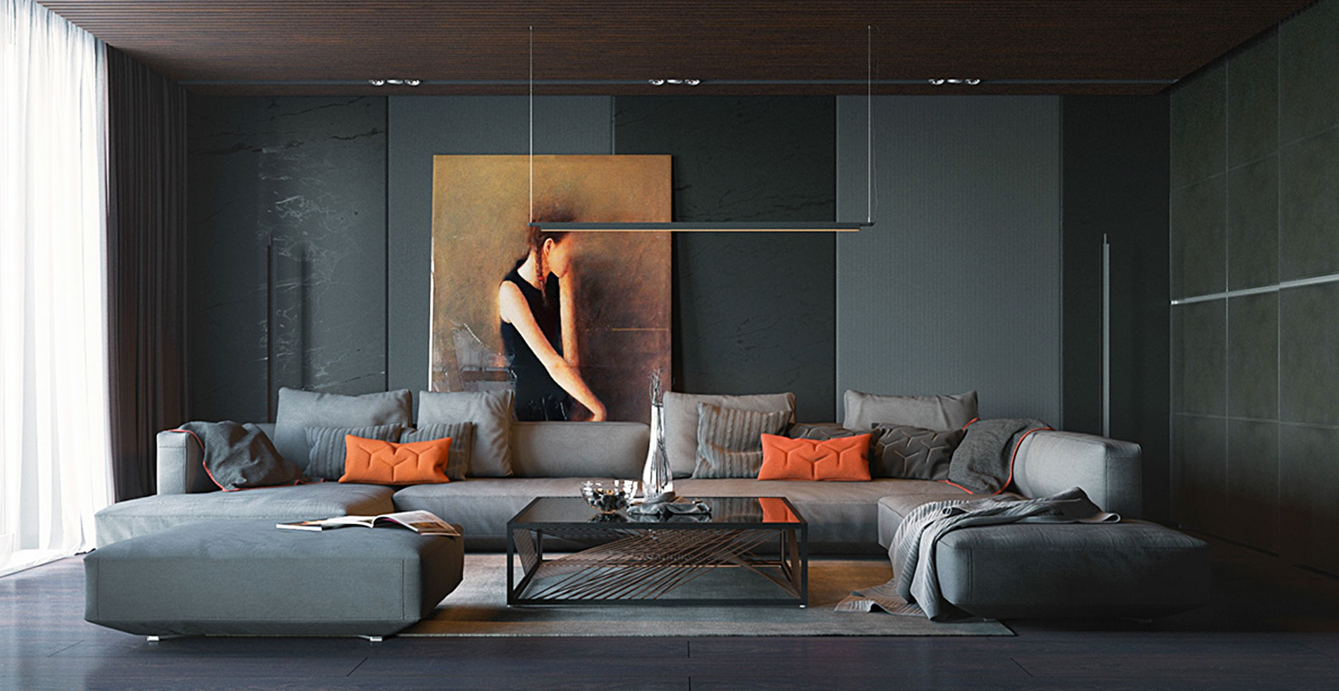 interior design tips dark wall