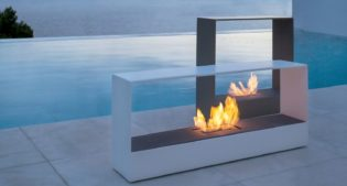Stay outdoors all year round with a Bioethanol Fireplace!