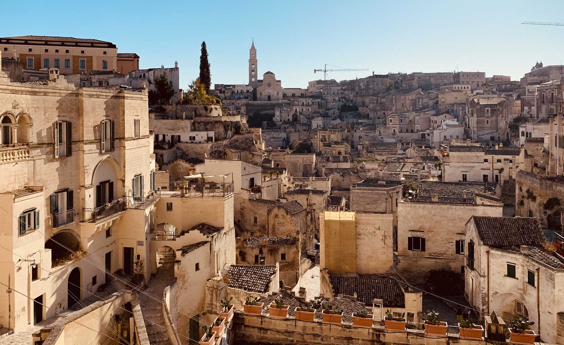 matera downtown view