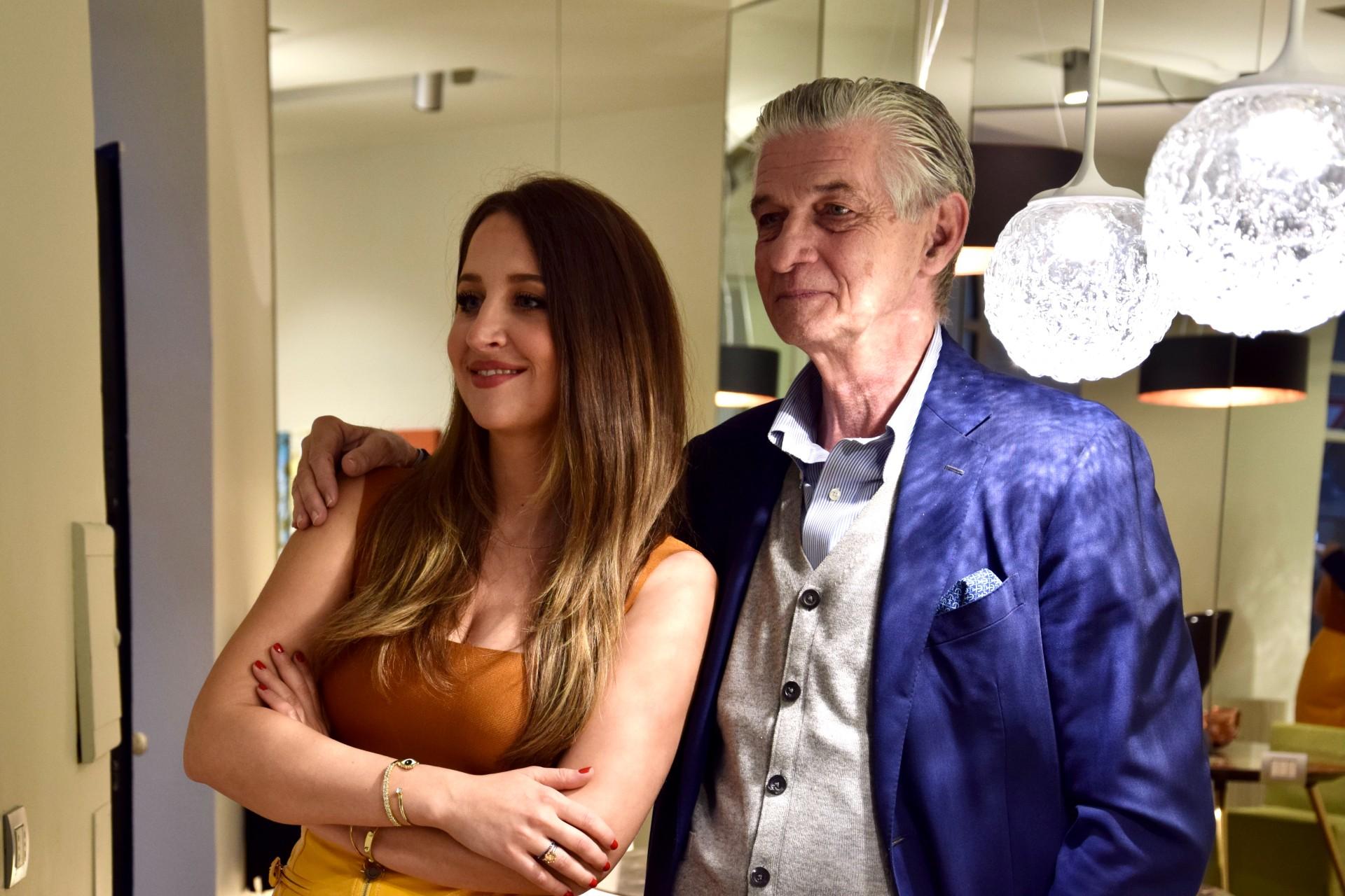 Giulio Cappellini con Camilla Bellini