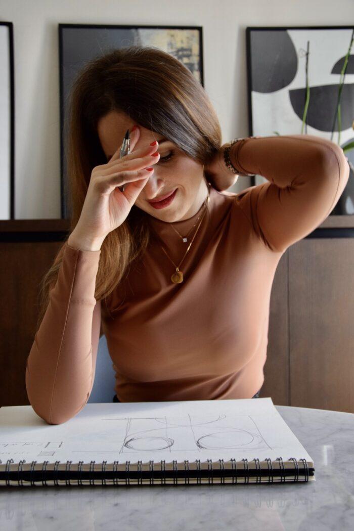 Camilla Bellini design sketching Italamp