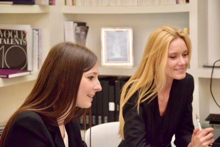 Virginia Cei designer and Arianna Marchetti Area Export Italamp