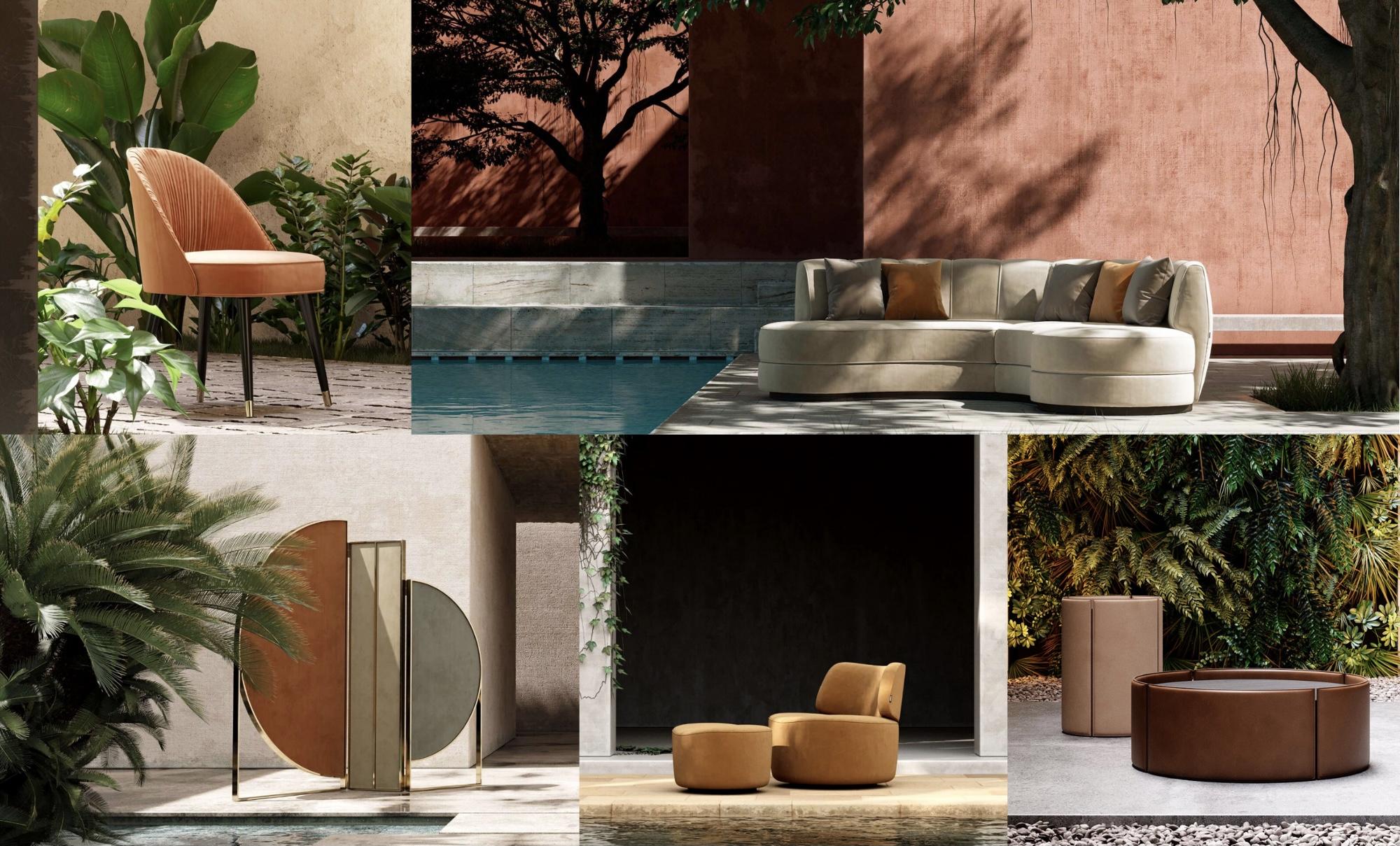 Domkapa outdoor design with contemporary pieces