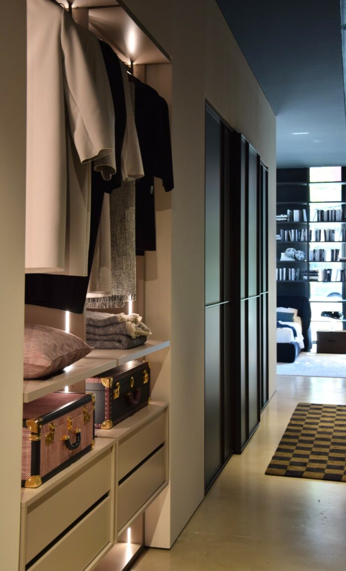 Wardrobe system by Novamobili